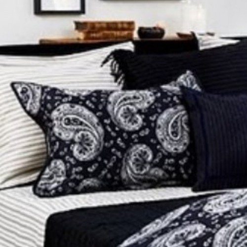 TAIE d'oreiller Boston Paisley black 65x65 GANT