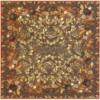 Nappe Jardins d'Hiver col.2 brun, dim.170x170cm, Beauvillé