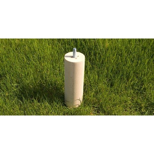 Jeux de 4 pieds cylindriques COLOMBO BRUT. Haut.15 cm