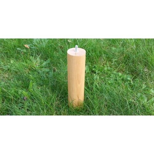 Jeux de 4 pieds cylindriques WATTA BRUT Hauteur 20 cm Hêtre  massif
