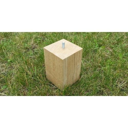 Jeux de 4 pieds carrés Talawa Chêne  Hauteur 13.5 cm Chêne massif de France