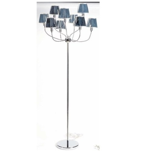 LAMPADAIRE Now's Home 9 lampes flexibles. Abat jours argent. Diam. 40cm  Haut 180cm