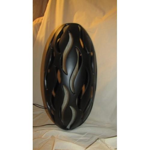 Lampe décorative Moderne à poser au sol. Haut.75  Diam. 33 cm