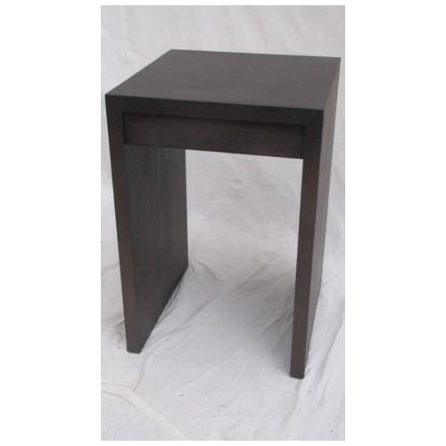 Table de Nuit MARK col Wengé Haut. 60 cm Larg. 40 cm Prof 40 cm