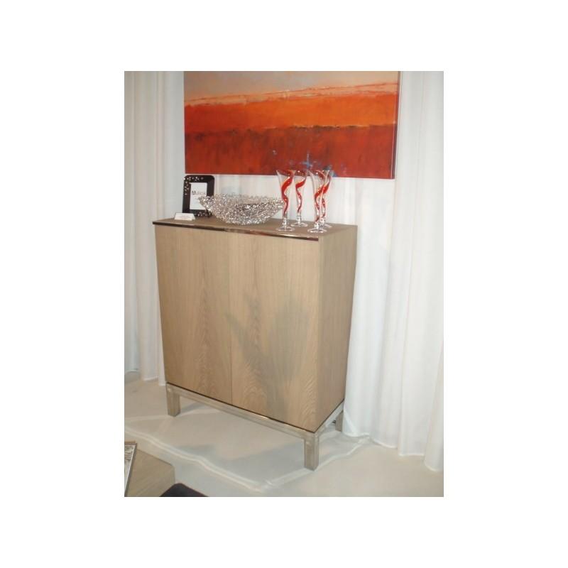 Meuble 2 portes branco sobre branco h 110 cm x 90 x 45 cm for Meuble h 110