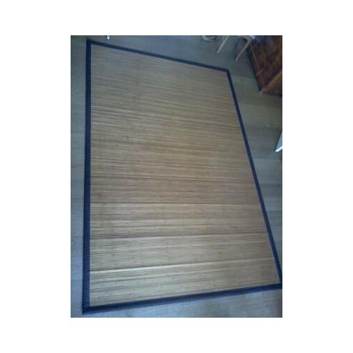 Tapis Bambou.Nash Andrea 300 x 200 cm. Bordure Brune