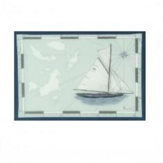 SET de table Voyages col.2 gris en satin 100% coton dim.38x48cm Beauvillé