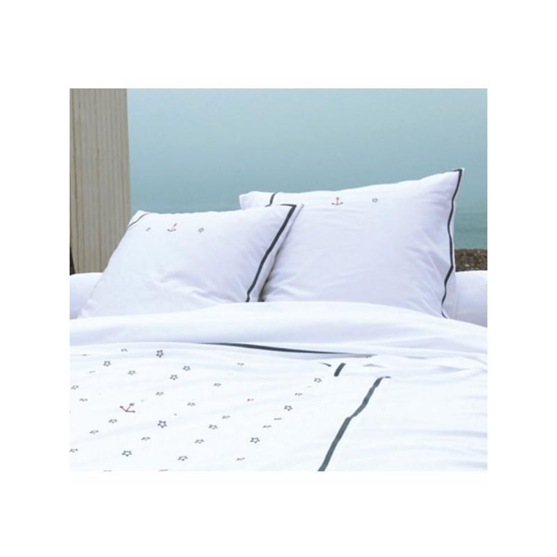 taie d 39 oreiller la marine sylvie thiriez. Black Bedroom Furniture Sets. Home Design Ideas