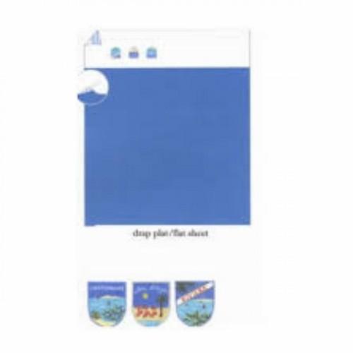 drap plat SYLVIE THIRIEZ - SUR LA COTE SUD de 270 x 310 cm