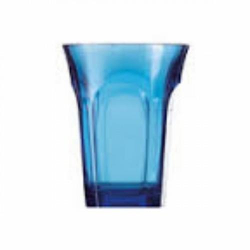 SET de 6 verres à eau Belle Epoque col.81 bleu, haut.14cm,Guzzini