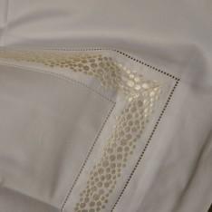 TAIE d'oreiller MASTRO RAPHAEL-FRAMMENTI 50 x 70 cm col 12 blanc