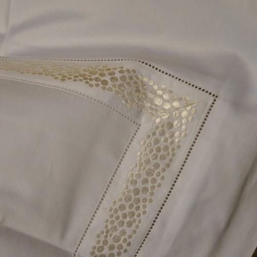 taie d'oreiller MASTRO RAPHAE-FRAMMENTI 65 x65 cm col 12 blanc