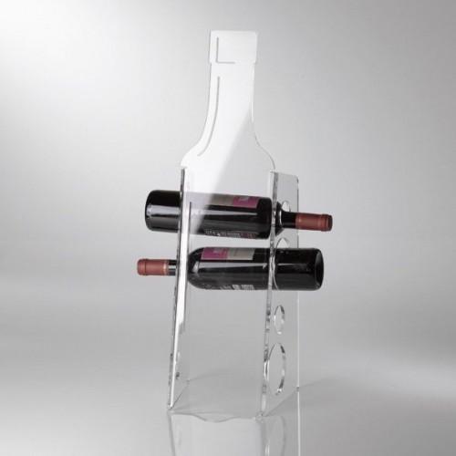 Porte bouteilles plexi VESTA -BOTTLE 21 X 20 /Haut. 59 cm