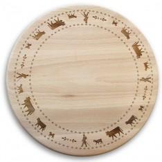 Planche en bois La Montée à l'Alpage réf.s153, diam.28cm, Steinlin