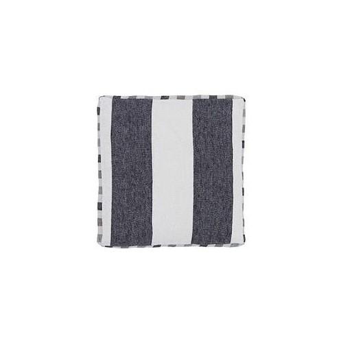 Coussin BRERA LARGO rayé noir-blanc cassé, dim.40x40cm, Designers Guild