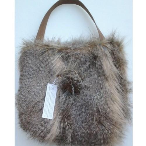 Faux fur bag Siberia 40x40 / 20 cm Evelyne Prélonge