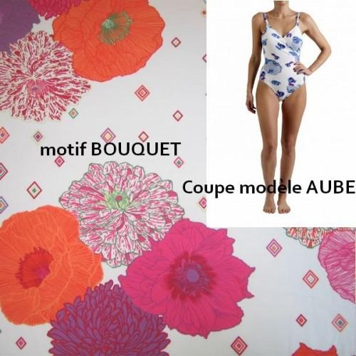 maillot de bains une pièce MANUEL CANOVAS - AUBE bouquet taille 6 (44)