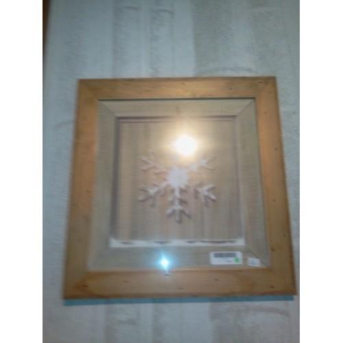 TABLEAU motif Flocon, dim.37x37cm, Artcom