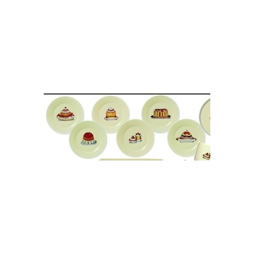 SET de 6 petites assiettes à dessert Gourmandise PIERRE FREY