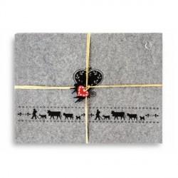 SET de 4 sets de table La Montée à l'Alpage réf.20-4022 col. gris, dim.42x32cm, Steinlin