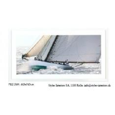 Tableau Voiliers anciens réf.PEC 081, photographie couleur, dim.60x110cm, Ablo