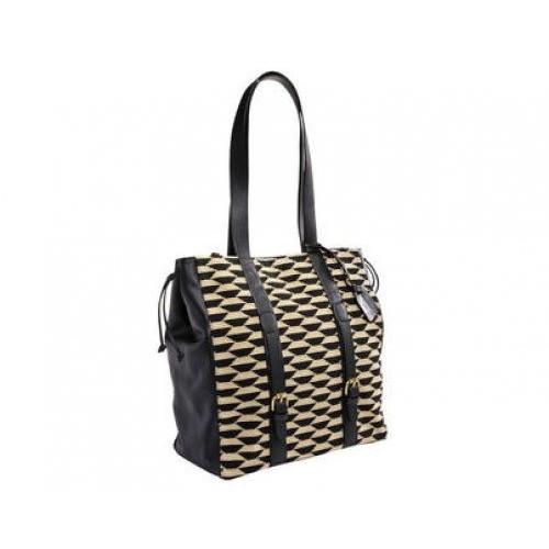 sac PIERRE FREY - BAKOU (tissu et cuir) col noir 35 x 35 cm