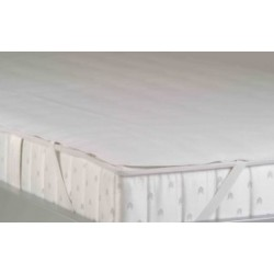 PROTEGE matelas BNP de 140 x 200 cm - secura avec élastique dans les angles (aspect éponge)