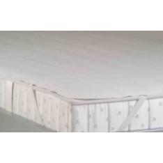 protège matelas BNP de 140 x 200 cm - secura avec élastique dans les angles (aspect éponge)