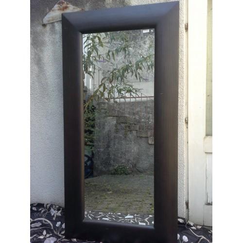 miroir avec cadre bambou H. 240 cm - L 65 cm