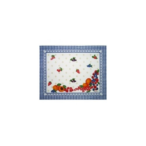set de table BEAUVILLE - GOURMANDISES enduit de 38 x 48 cm col 1 bleu