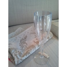 Set de 6 flûtes à champagne en plexi LIKE WATER diam. 6,5/haut. 20 cm. Vesta