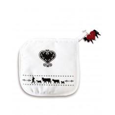 MANIQUE La Montée à l'Alpage réf.50.05.008 col.noir et blanc, dim.20x20cm, Steinlin