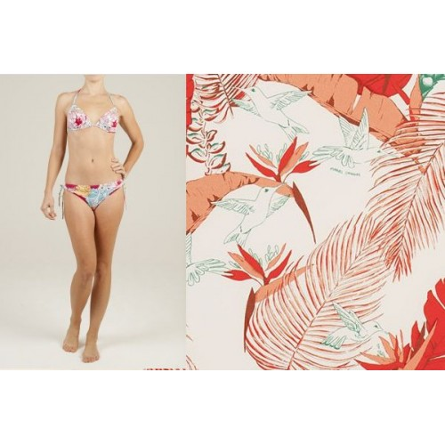 bikini ALAIA colibri blanc-orange Manuel Canovas