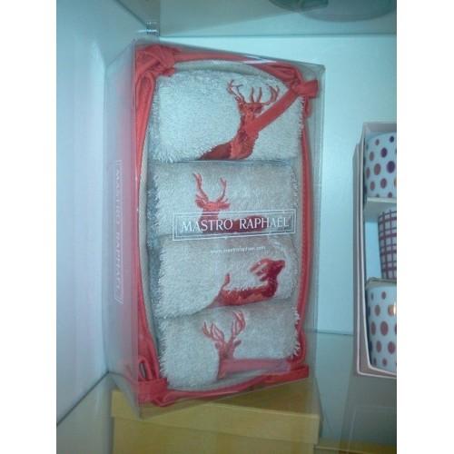SET de 4 serviettes invités Mastro Raphael