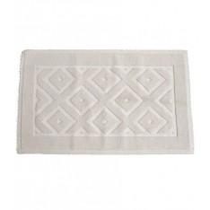 tapis de bains coton MASTRO RAPHAEL - ROMBI 60 x 100 cm 10C gris clair