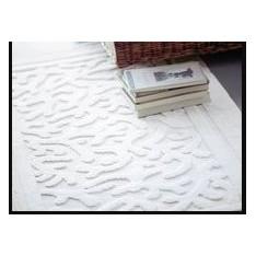 tapis de bains coton MASTRO RAPHAEL - ROMBI 70 x 140 cm bianco