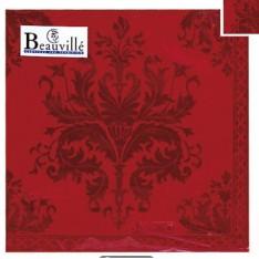 Serviettes en papier Topkapi rouge 33x33 BEAUVILLE