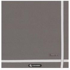 SERVIETTE Beauvillé - 52 x 52 cm taupe, ligne blanc cassé 11540-1