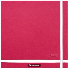 SERVIETTE de table Beauvillé, Unie 11541 col 14 rose, 52x52cm