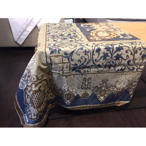 nappe BEAUVILLE - ADAGIO de 170 x 170 cm 11450/2 bleu -beige
