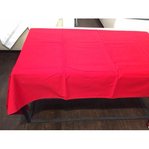 nappe BEAUVILLE - UNIE de 180 x 280 cm  col 16 rouge