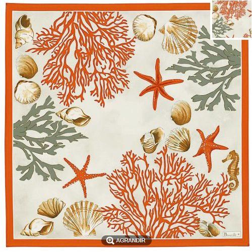 SERVIETTE de table Corail col 1, 52 x 52 cm Beauvillé