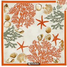 SERVIETTE de table Corail col 1, 52 x 52 cm Beauvillé