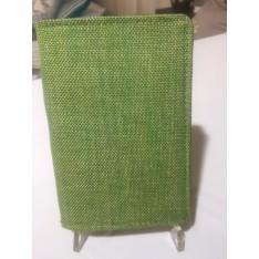 pochette passeport DESIGNERS GUILD - tissu vert 10 x 14,5 cm
