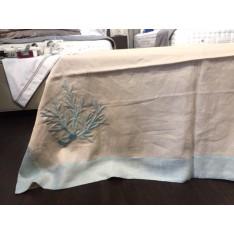 NAPPE Tovaglia Coralli 180x300 turquoise MASTRO RAPHAEL