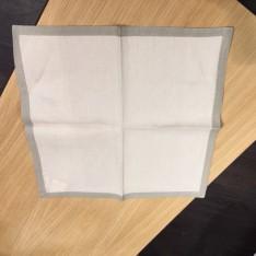 SET de 4 serviettes de table col.écru, dim.45x45cm,  MASTRO RAPHAEL