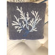 Coussin Coralli col.bleu marine, dim.45x45cm, de Mastro Raphael