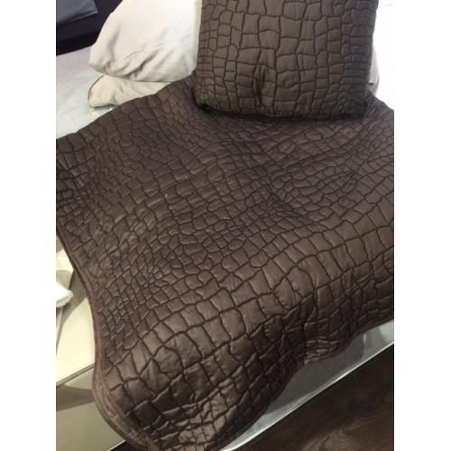 Couvre-lit LAGOON col.brun, dim.160x270cm, Mastro Raphael