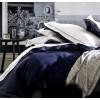 Housse de couette ALEXANDRE TURPAULT- BASTIDE blanc-marine 240x240 cm