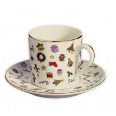 TASSE et sous-tasse nespresso NOEL en porcelaine, RéF. 5447, Edzard
